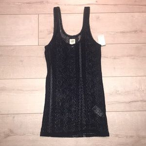 Abercrombie & Fitch Navy tank top long n lean M